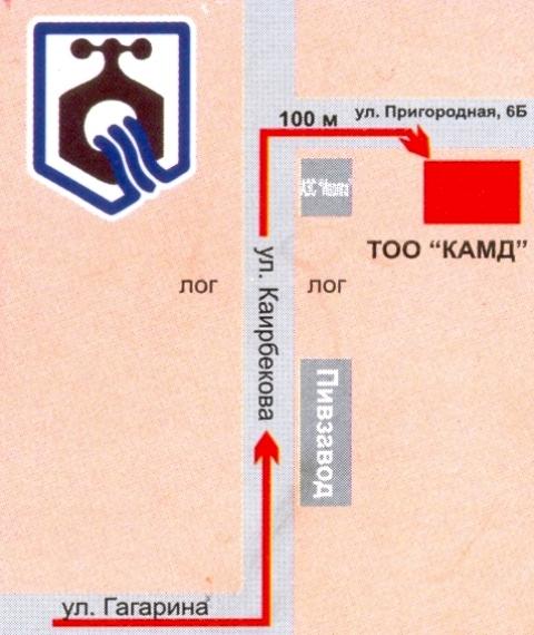 Схема проезда: Схема проезда